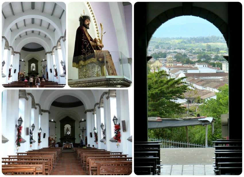 Intérieur de l'église de Belén de Popayán