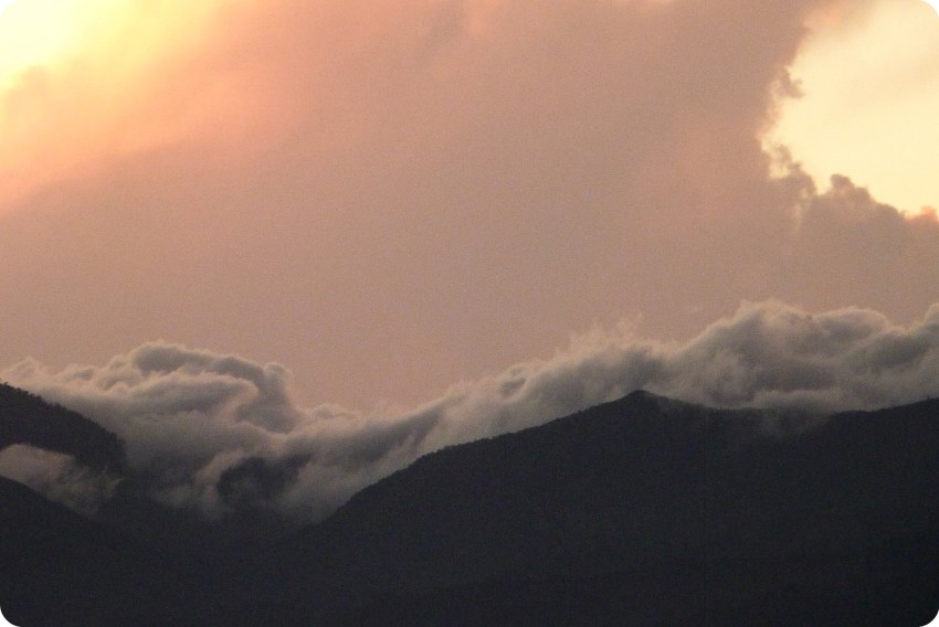 Coucher de soleil depuis le Morro del Tulcán de Popayán
