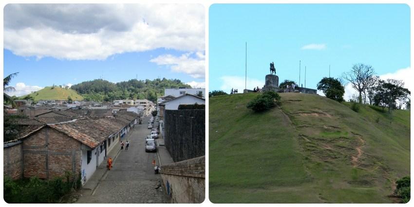 Vue sur le Morro del Tulcán depuis la ville de Popayán