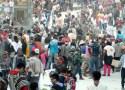 batalla de carioca en la plaza del carnaval de Pasto