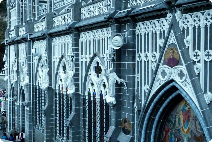 détails du Santuario de las Lajas de Ipiales