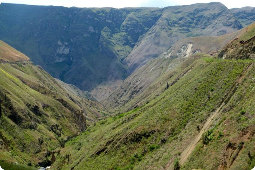 paysage sur une route de Pasto