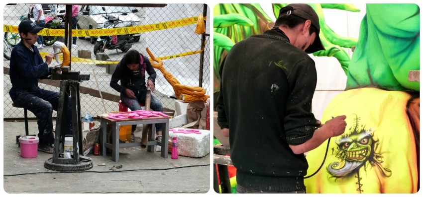 fabrication de char du carnaval de Pasto
