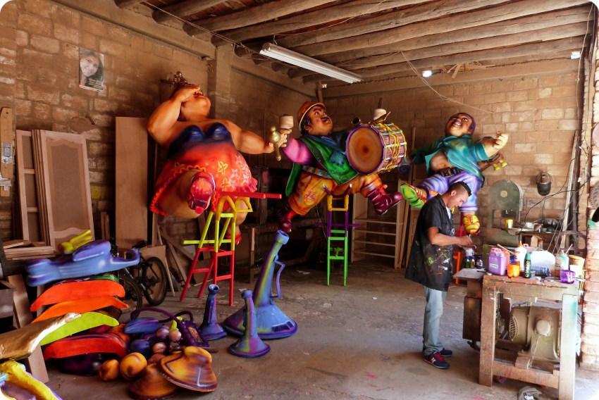 taller de fabrica del carnaval de Pasto