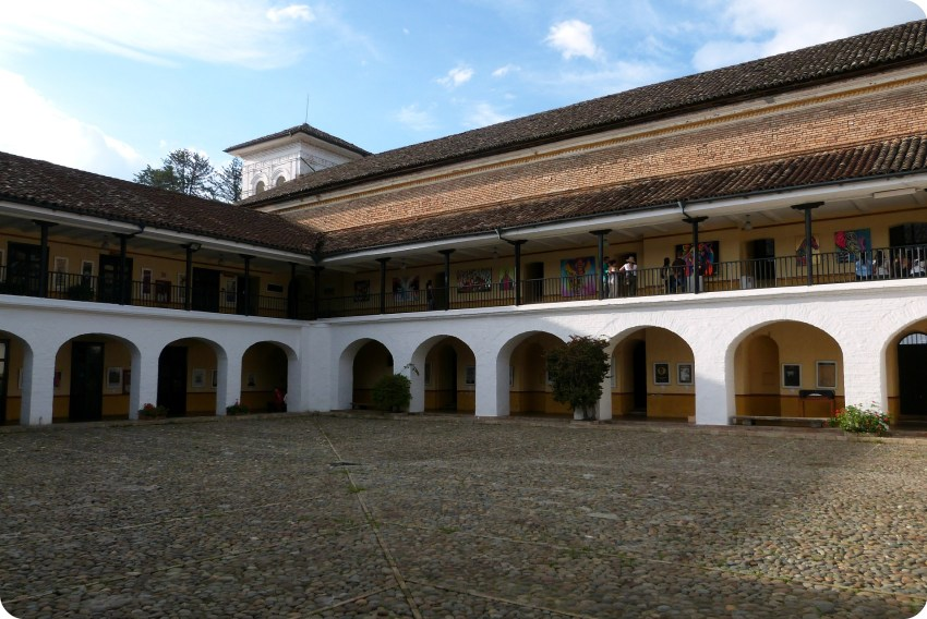 Patio du Colegio Mayor del Cauca de Popayán