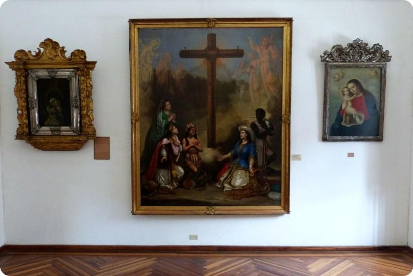 cuadros en el museo arquidiocesano de Popayán