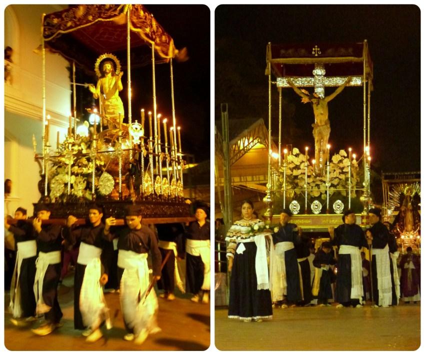 pasos del martes santo durante el desfile de la Semana Santa de Popayán