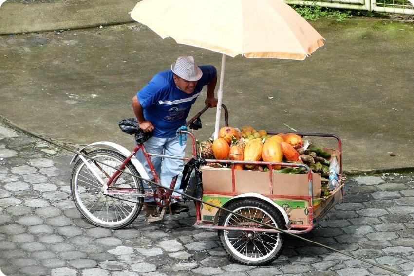 Vendedor de frutas en Santo Domingo de los Colorados