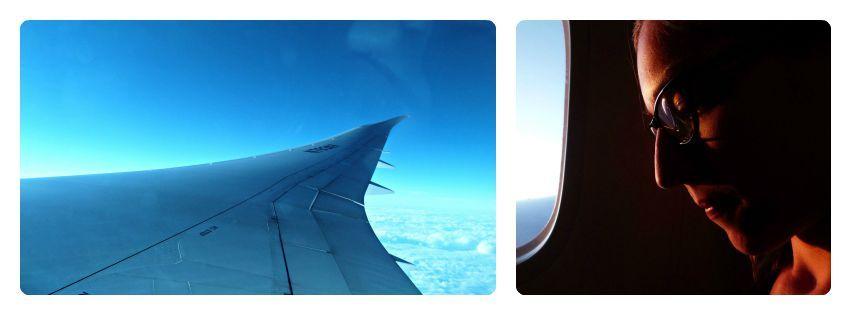 Vista de la ala del avión