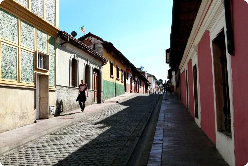 rue du quartier de la Candelaria de Bogotá