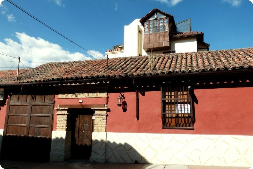 casa del centro histórico en el barrio de la Candelaria de Bogotá