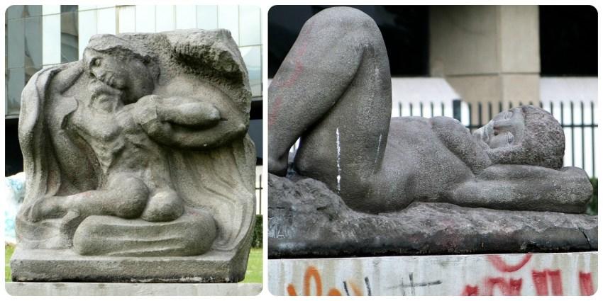 Esculturas en un parque de Quito