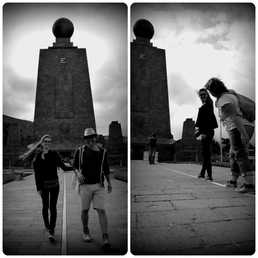 Nosotros en la línea de la Mitad del Mundo de Quito