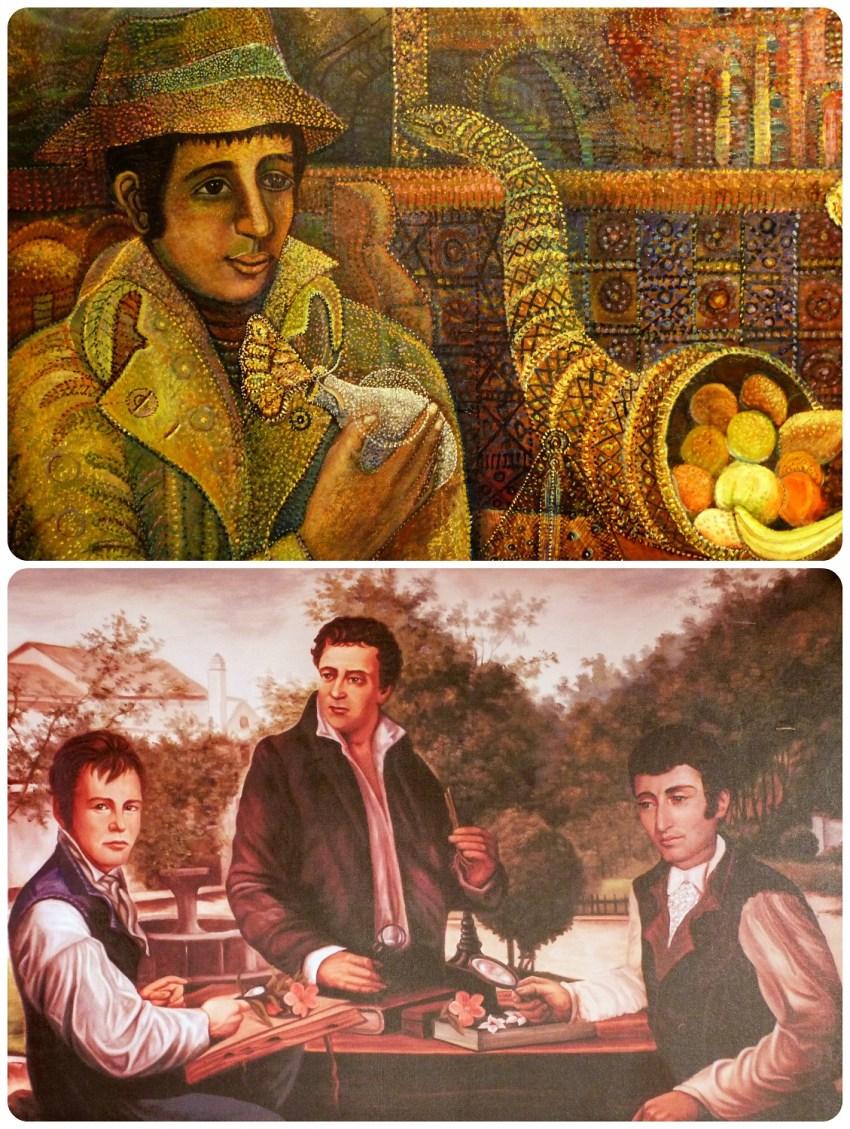 cuadros en la Casa Museo Francisco Caldas de Bogotá
