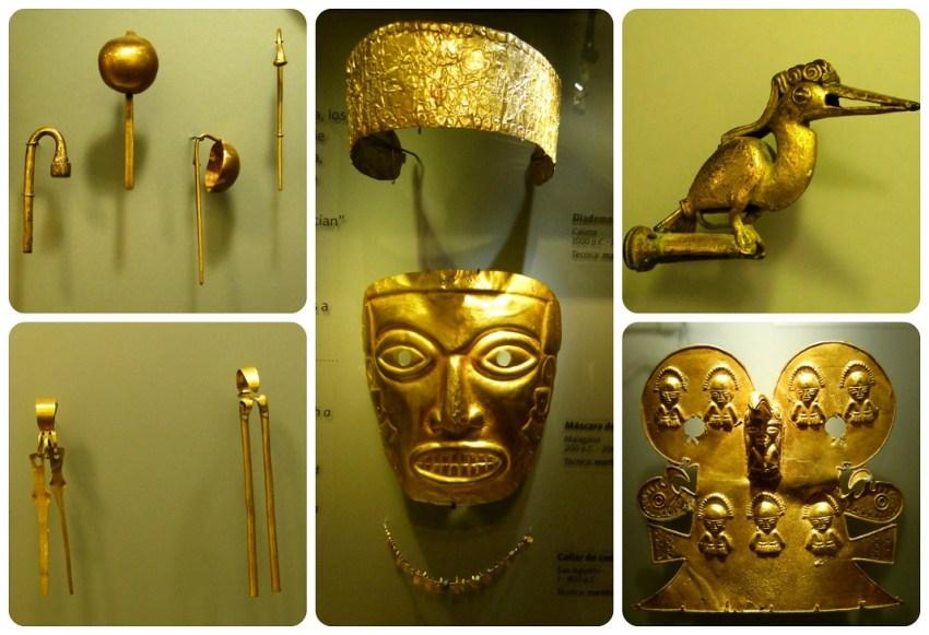 objets exposés au Museo nacional de Colombia de Bogotá
