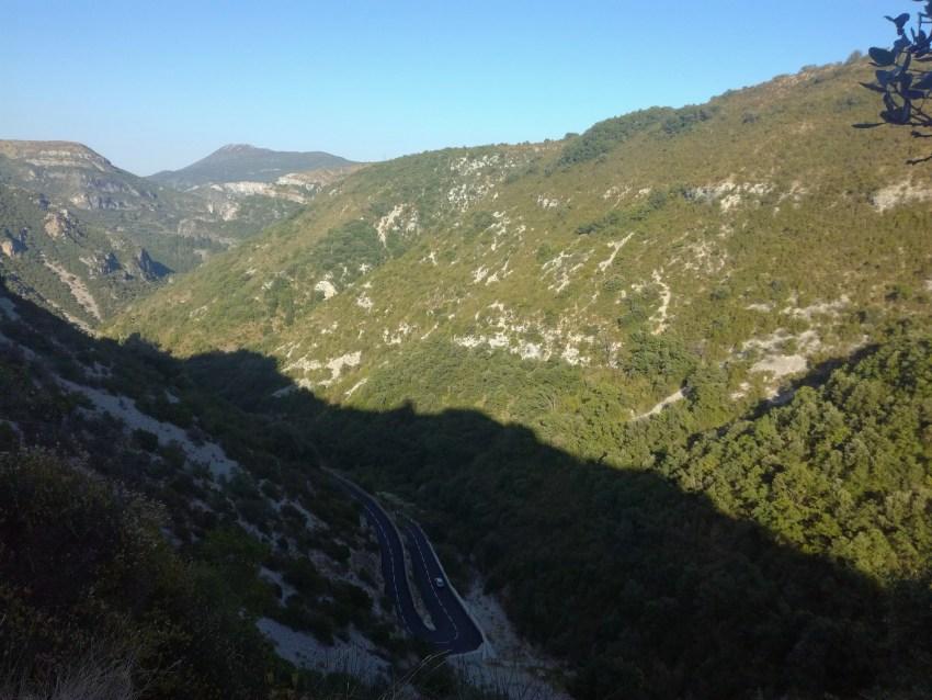 paysage hérault saint maurice de navacelles voyage vélo