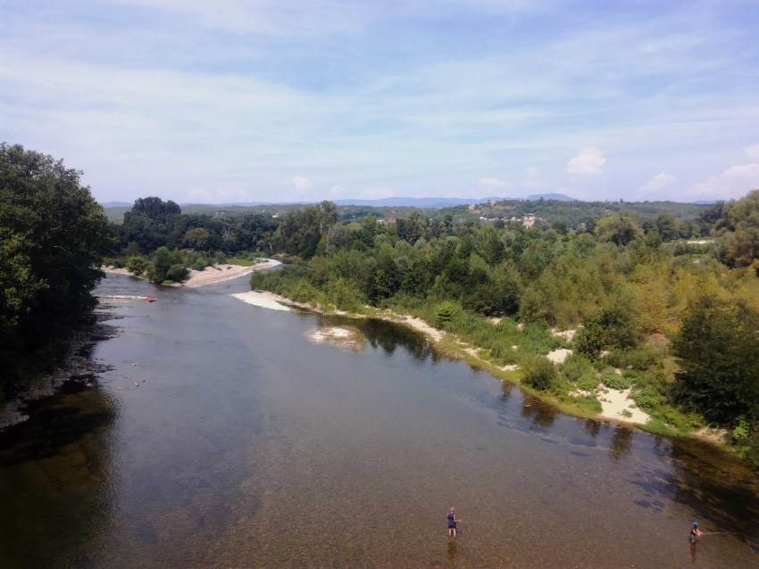 ardèche rivière pecheurs voyage vélo