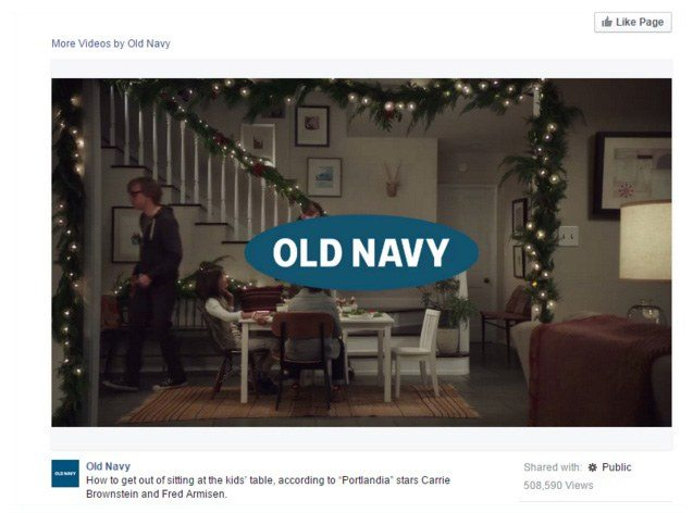 This video shows how Old Navy uses content marketing on Facebook to encourage new sales.