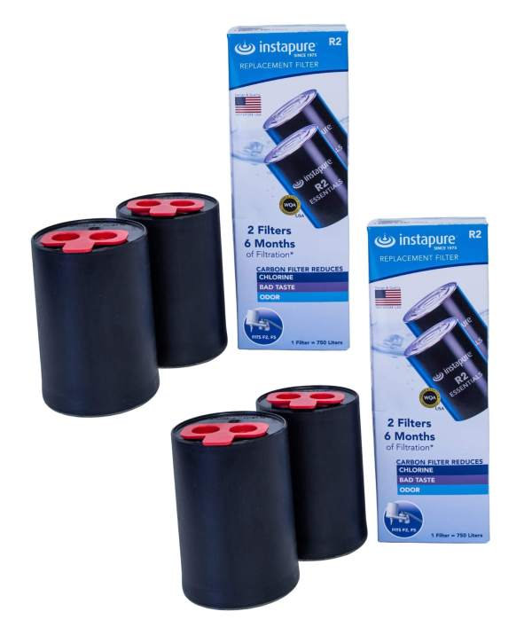 Replacement cartridges for Instapure tap water filter