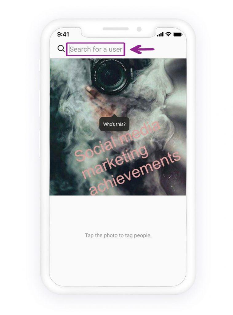 Comment taguer quelqu'un sur Instagram 3