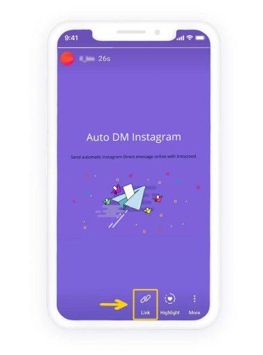 Ajoutez Swipe to Instagram Story
