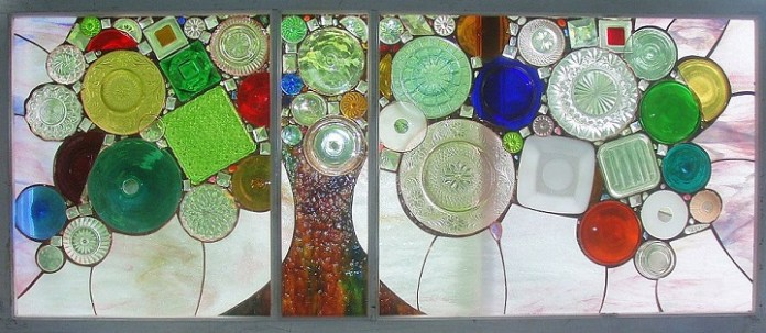 recycled stain glass