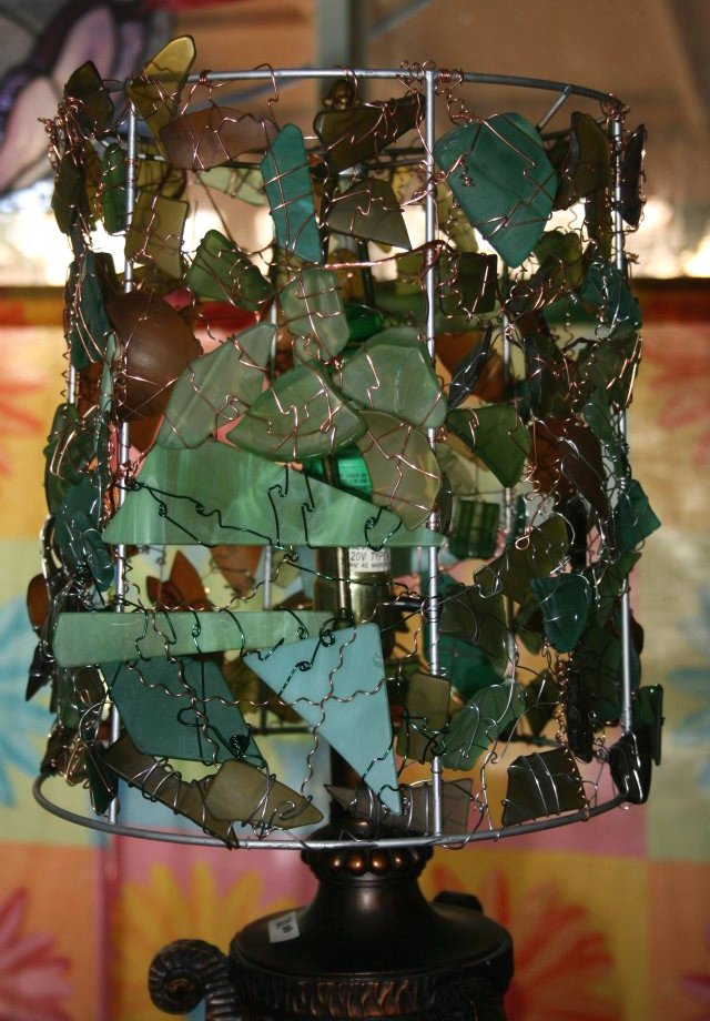 recycled glass lamps