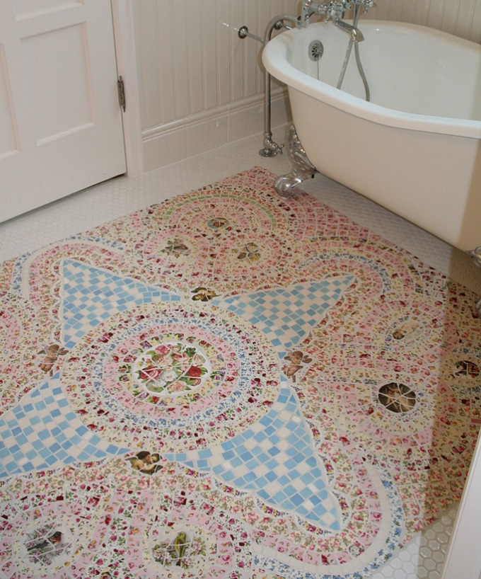 How To Install A Broken Tile Mosaic Floor Wikizie