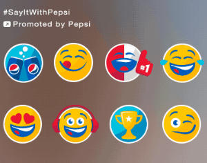 Pepsi's #Promoted Stickers