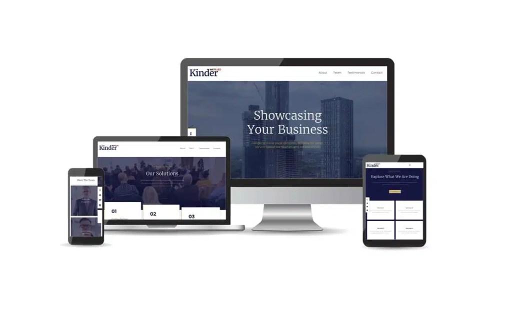 Startup business website template Kinder