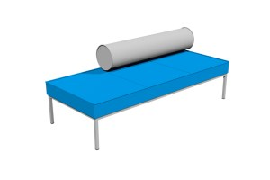 GALAXY Lineal Ottoman – with part backrest.