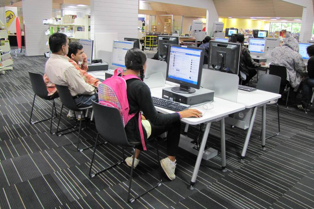 Socrates SPACE Computer Workstations at Mt Roskill Community Library.