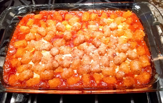 tator tot casserole: the ultimate comfort food- finished