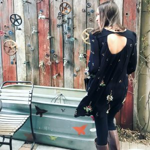 how to stick to dress codes without looking like everyone else- free people oxford mini dress