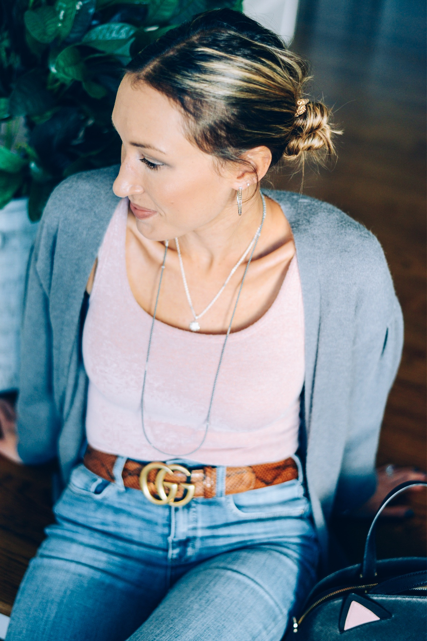 How to Layer Necklaces Effortlessly- lagos hoop earrings