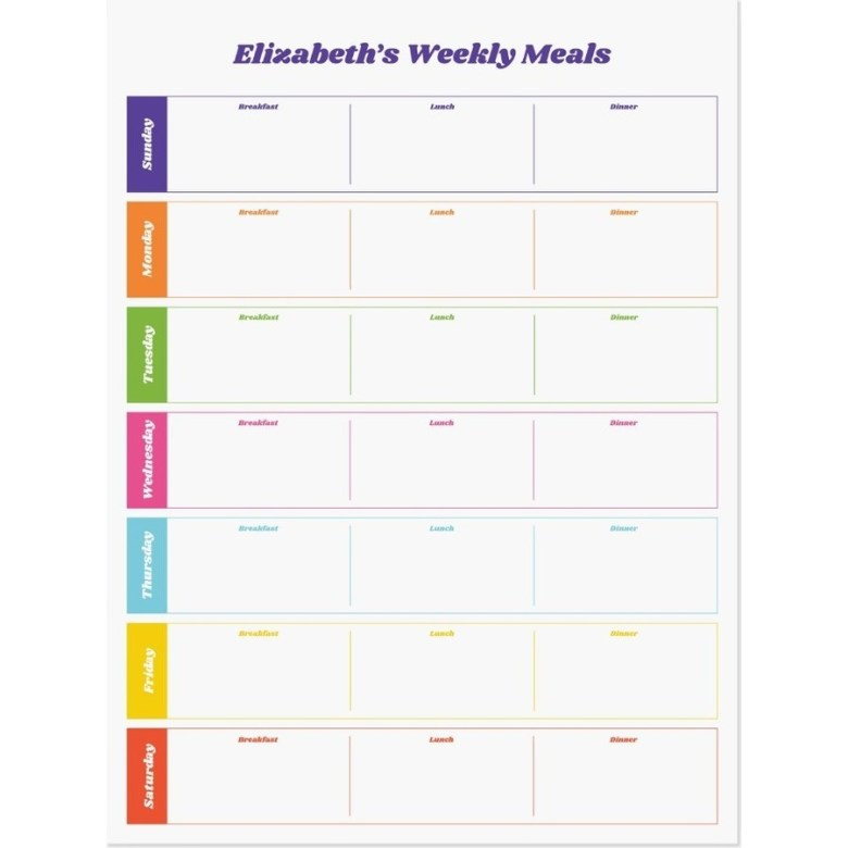 Family Meal Planning Made Easy; meal planner, organization, lifestyle