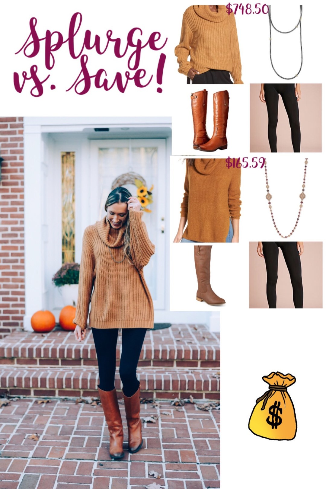 fall outfit, tunic sweater, thanksgiving outfit, tall boots...	<div class=