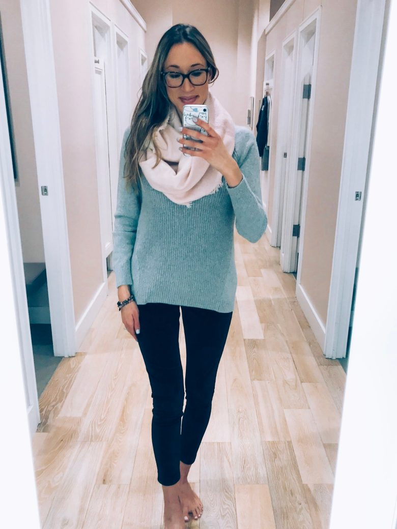 loft try-on and haul winter 2018 cute casual winter outfit