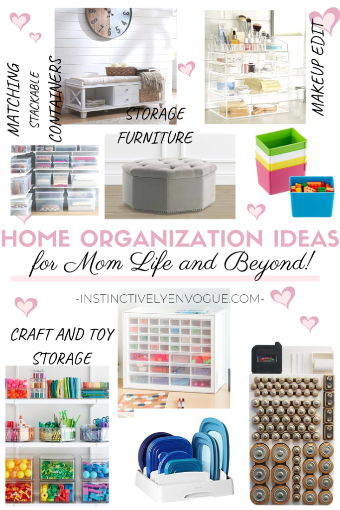 home organization ideas for toys, makeup, and more