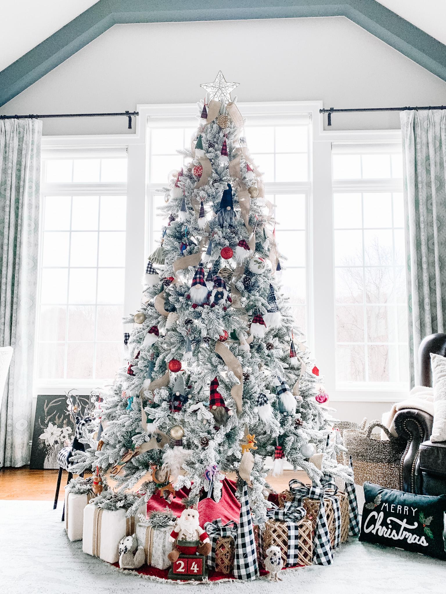 flocked king of christmas tree