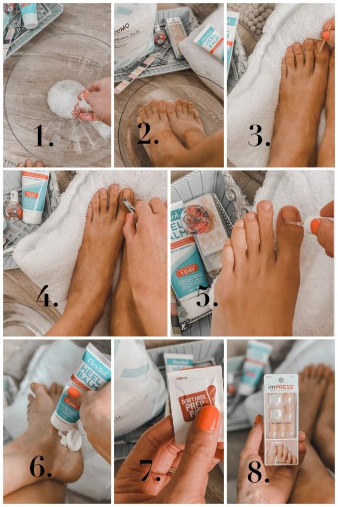 8-step diy pedicure