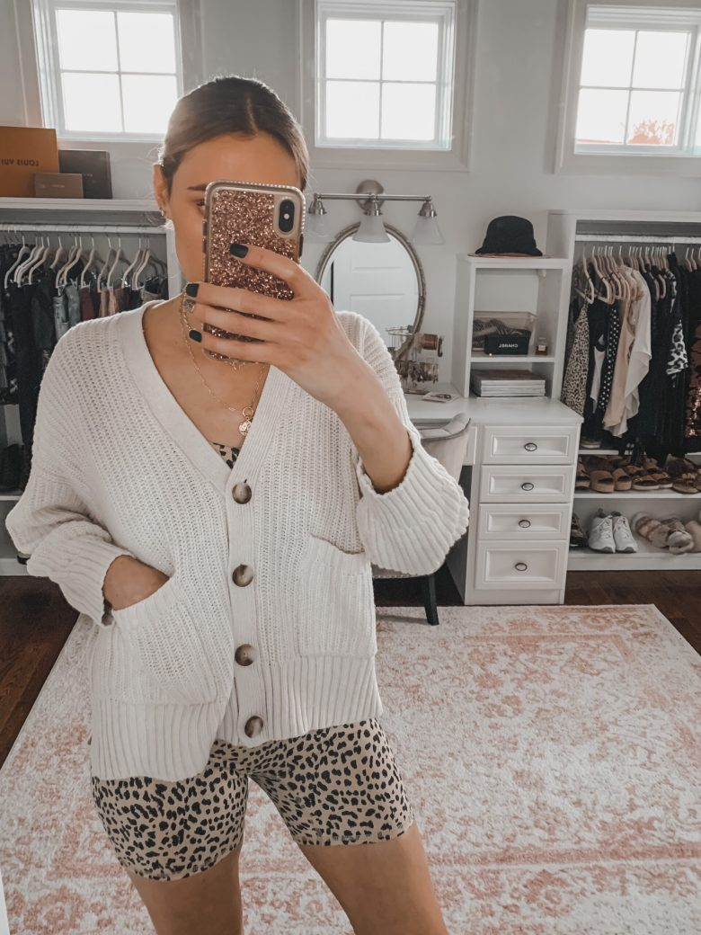 spring closet essential- loose neutral cardigan