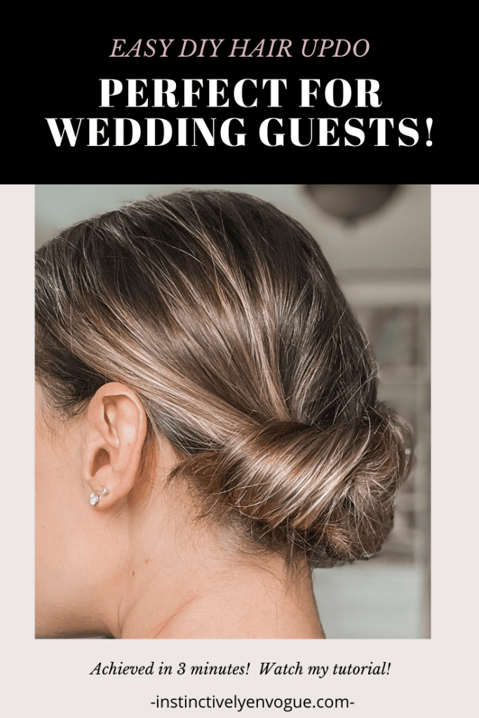 hair tutorial for easy diy hairstyle for wedding guests