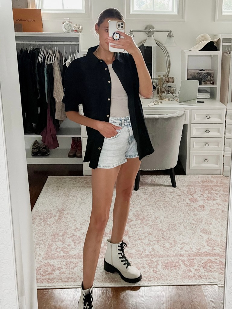 ways to wear shorts in early fall