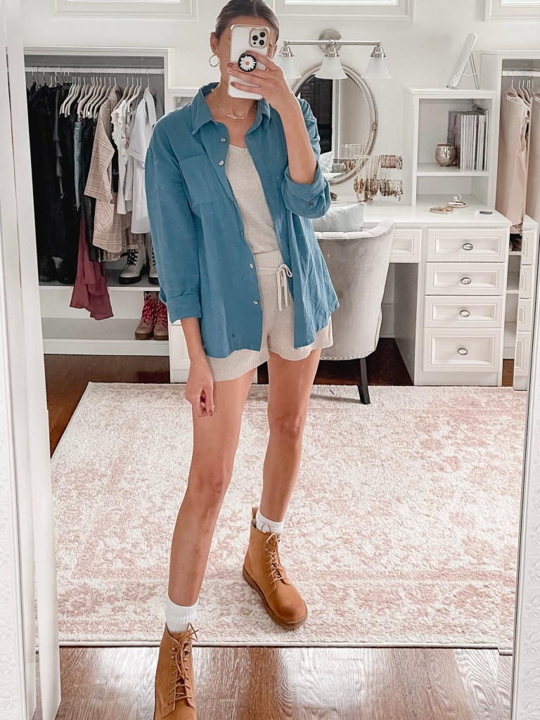how to wear shorts in fall