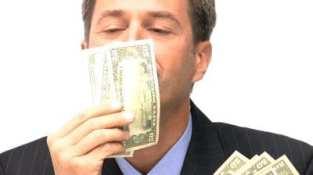 Man kissing-smelling money.jpg