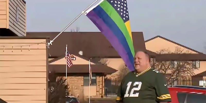 Kevin Kollman outside his Wisconsin home (screen capture via NBC2)