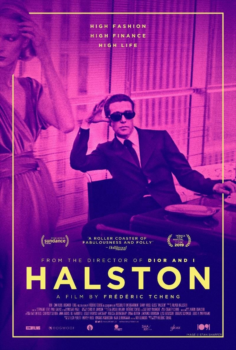 Official movie poster for upcoming documentary 'Halston' (via Orchard)