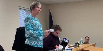 Root town clerk Sherrie Erkisen apologizes for denying marriage license to gay couple (screen capture)