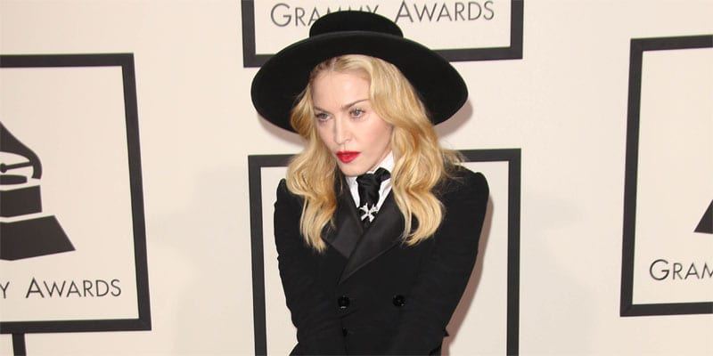 Madonna on the red carpet at the Grammy Awards (image via Depositphotos)